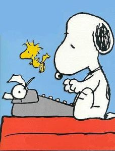 I grew up with images of Snoopy writing and now wish I had followed his lead.